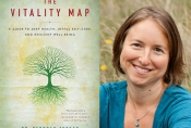 Vitality Map book cover and author portrait.